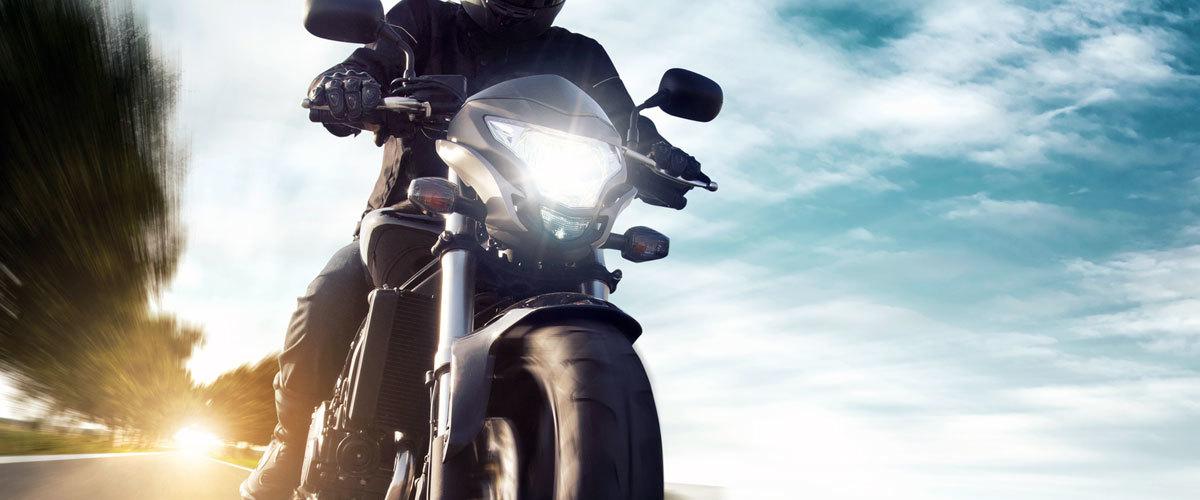 Motorrad mit Fahrer